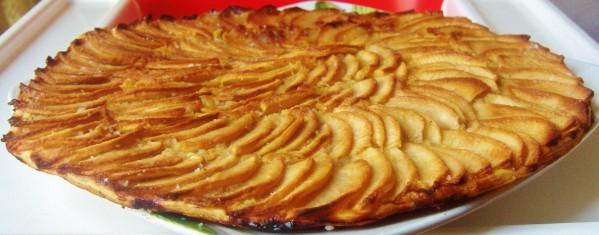 dessert maison : tarte fine aux pommes